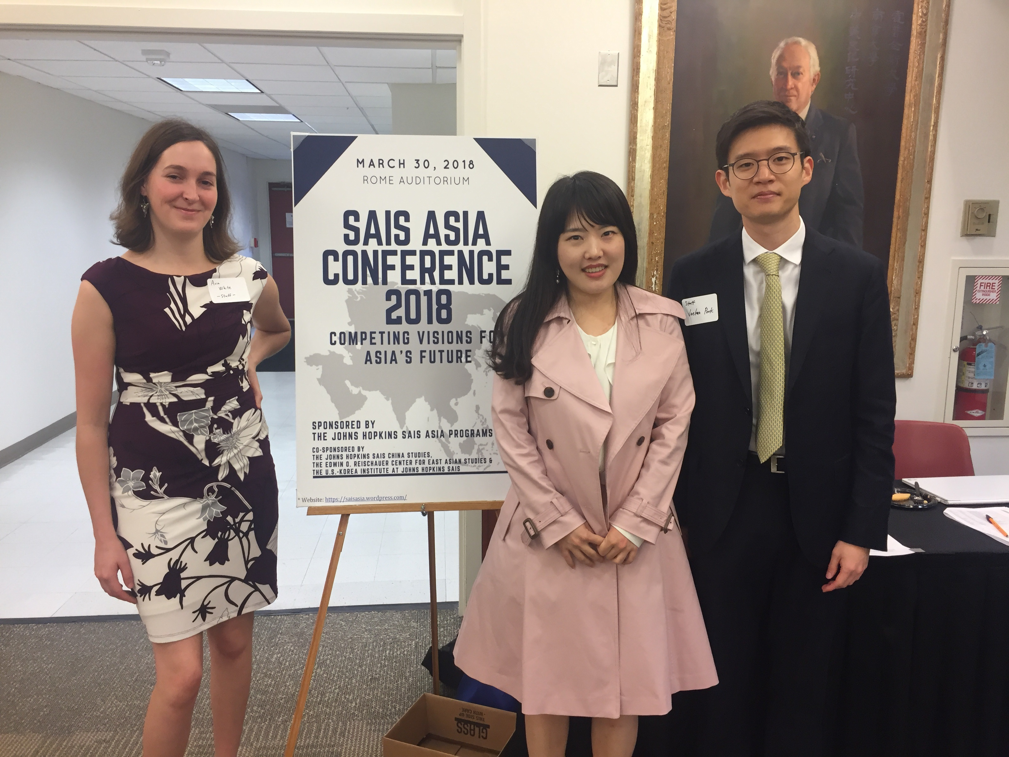 The student organizers of the SAIS Asia Conference