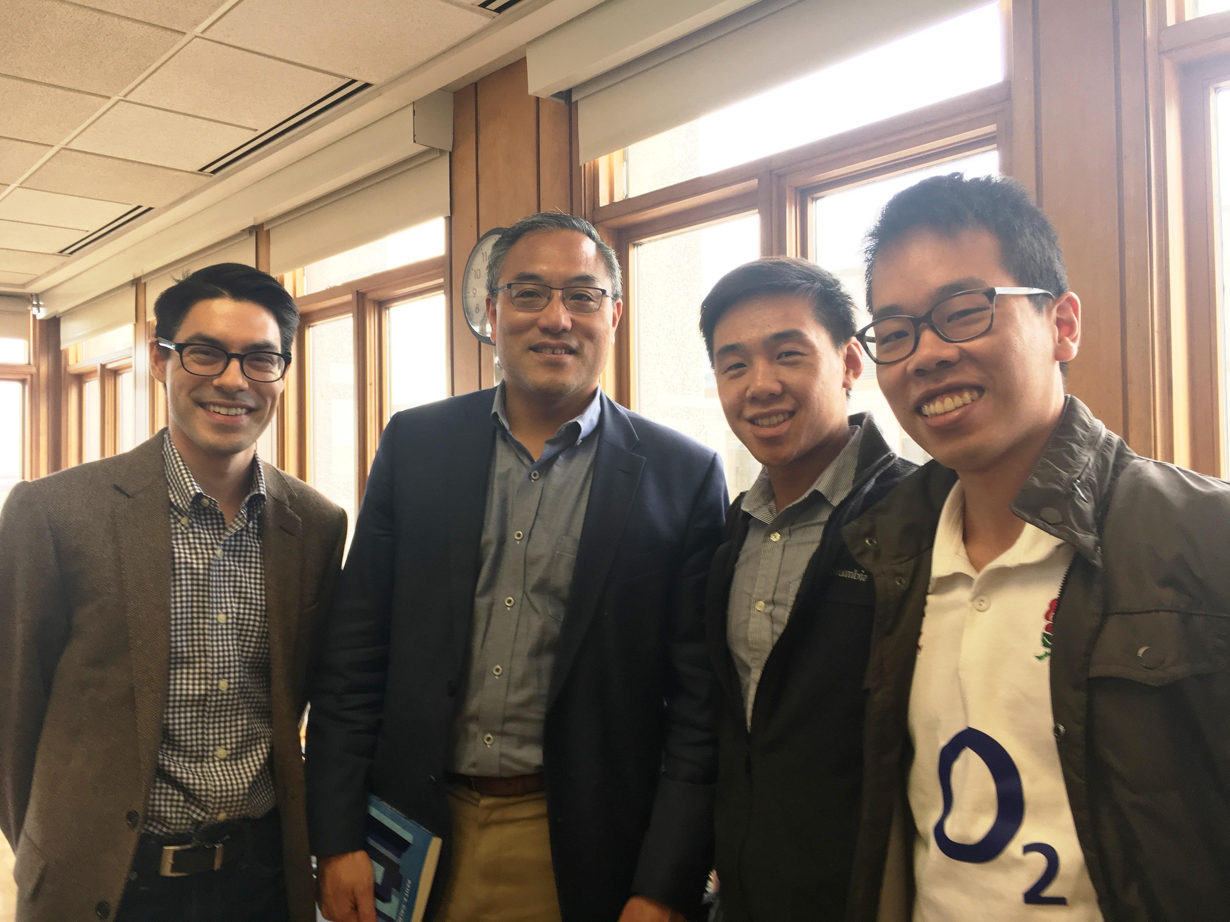 Jim Loi with SAIS Students