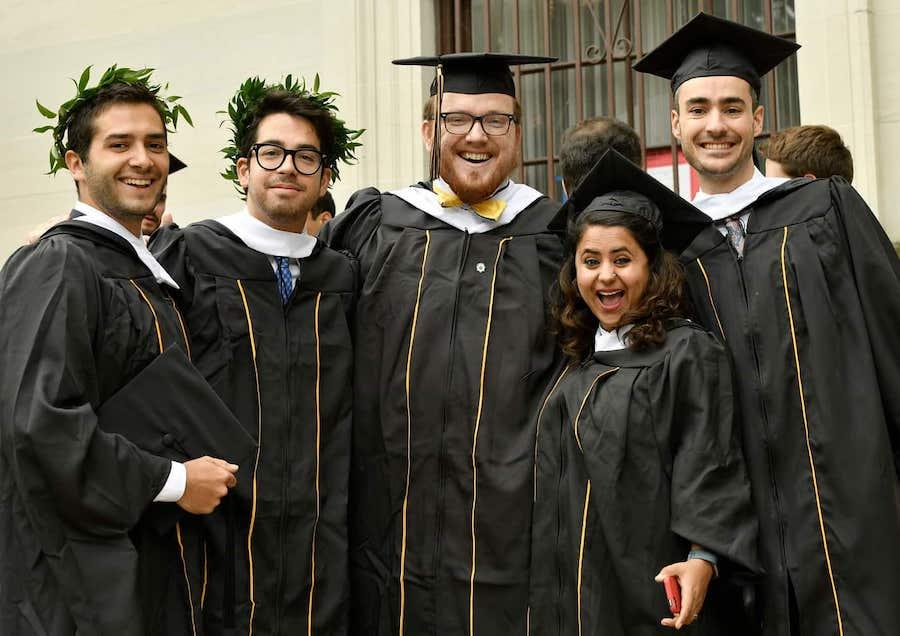 Johns Hopkins SAIS students at graduation