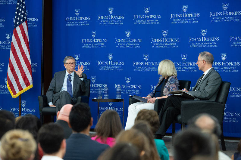 Johns Hopkins SAIS event with Bill Gates