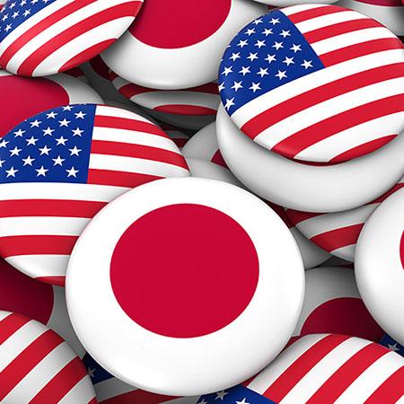 us-japan flag buttons