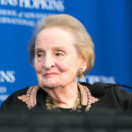 A photo of Madeleine Albright