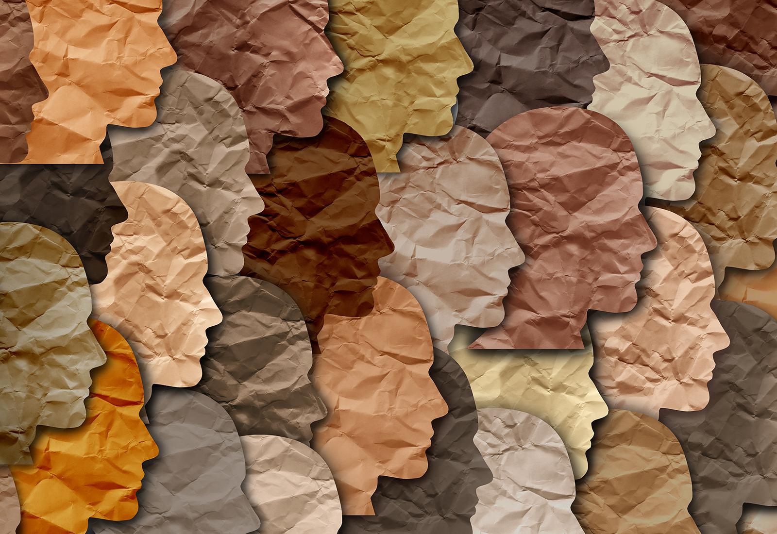 graphic design of diverse faces