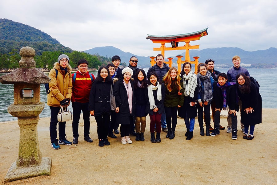 Johns Hopkins SAIS students in Japan
