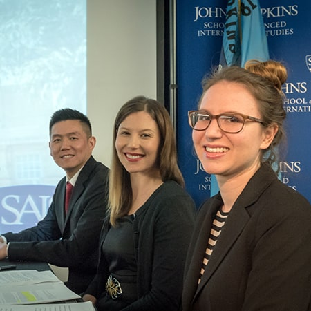 Johns Hopkins SAIS MAGP students