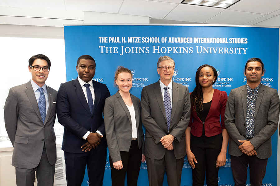 Johns Hopkins SAIS students with Bill Gates