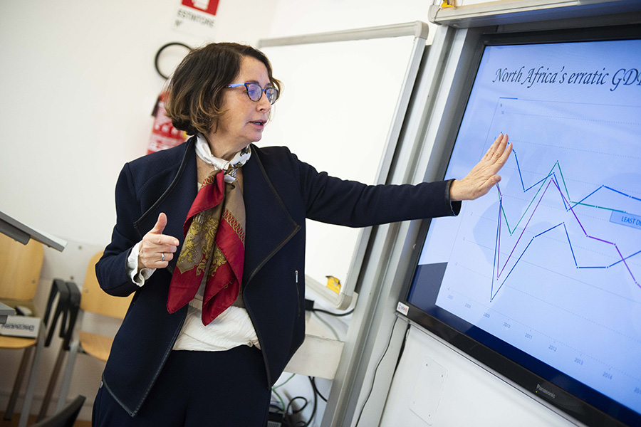 Johns Hopkins SAIS professor teaching a class