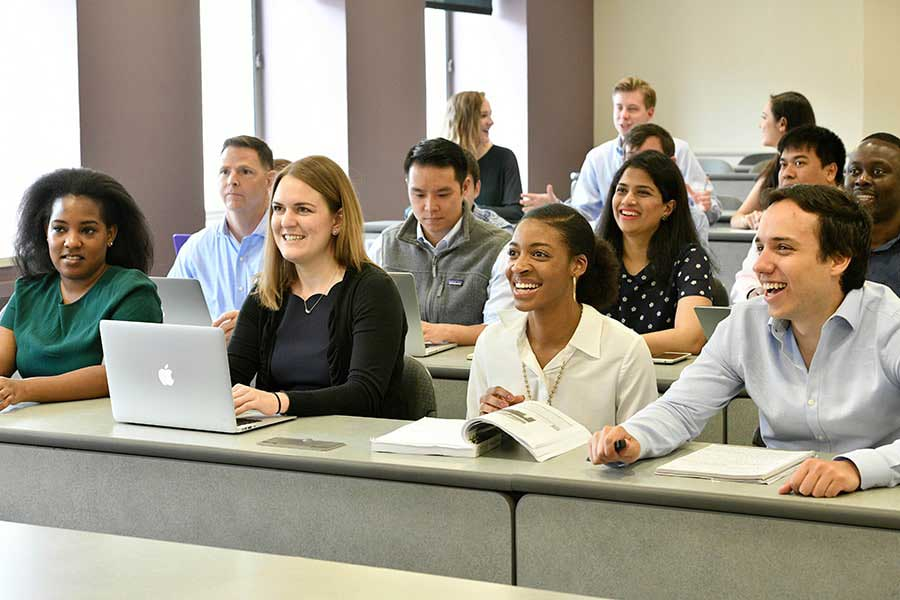 Johns Hopkins SAIS students in a classroom