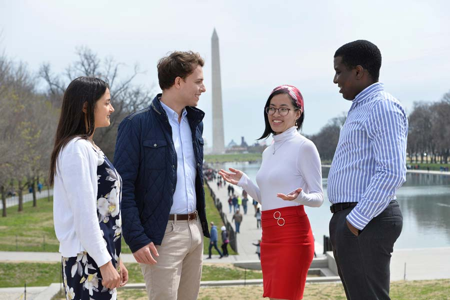 Johns Hopkins SAIS students on the National Mall