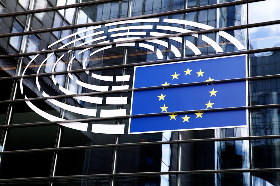 The facade of the EU Parliament