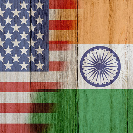 us and indian flag